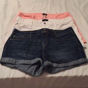 Sz 12 Gap lot of 3 pairs of shorts